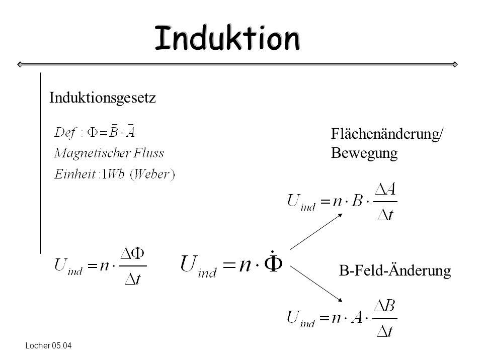 Induktionsgesetz Flächenänderung/ Bewegung B-Feld-Änderung