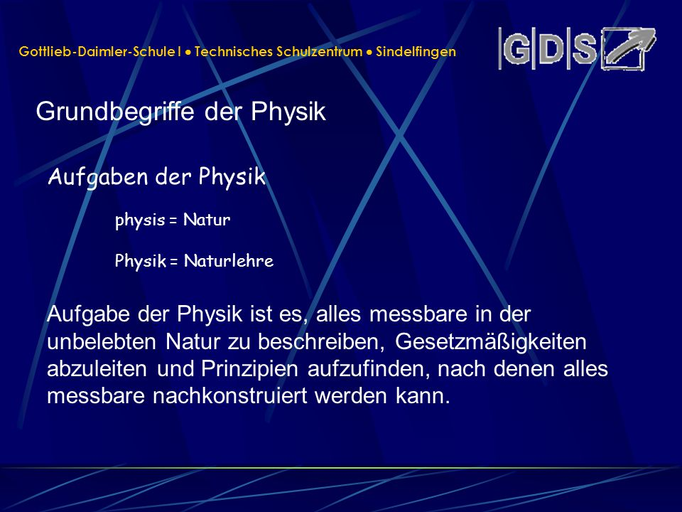 Grundbegriffe der Physik