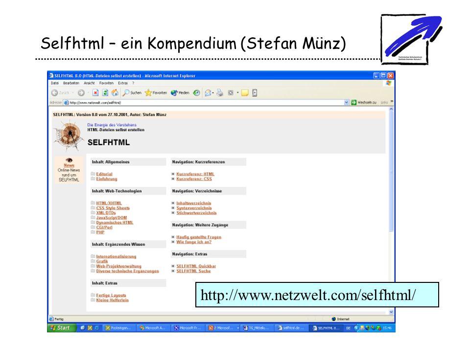 Selfhtml – ein Kompendium (Stefan Münz)