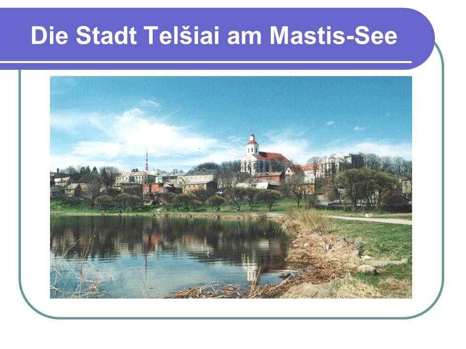 Die Stadt Telšiai am Mastis-See
