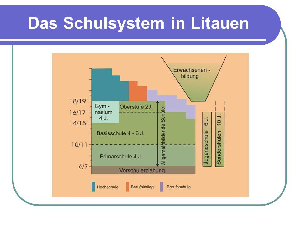 Das Schulsystem in Litauen