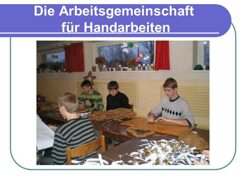 Die Arbeitsgemeinschaft für Handarbeiten