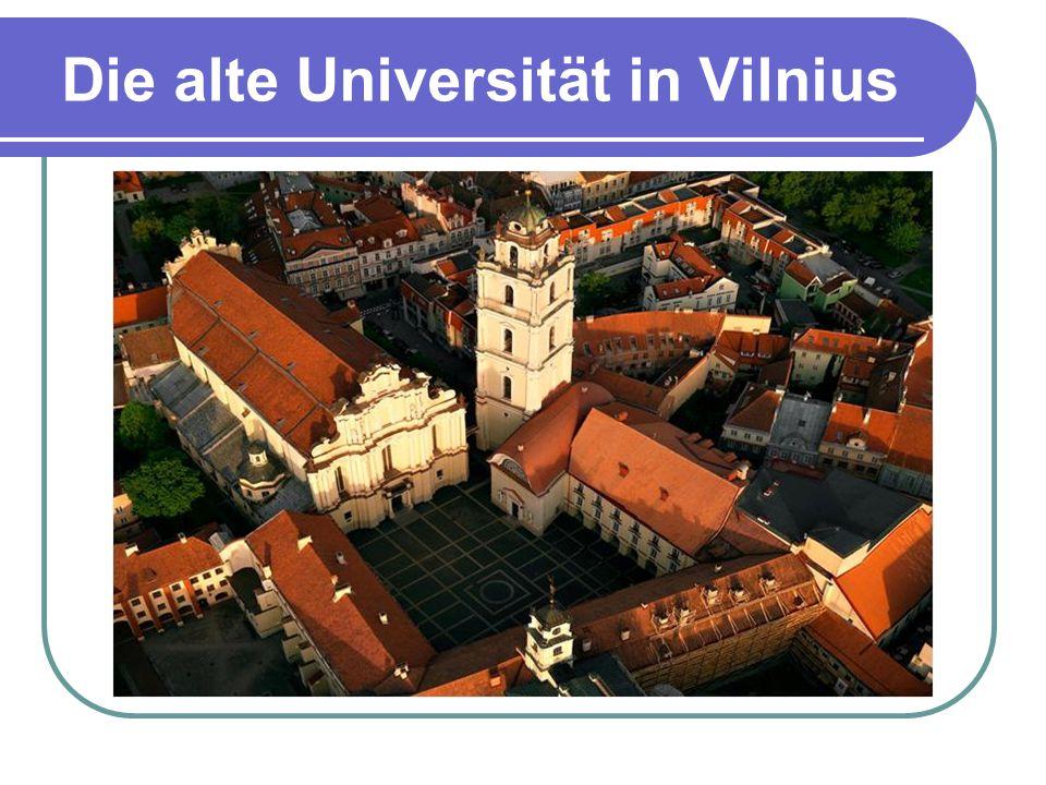 Die alte Universität in Vilnius