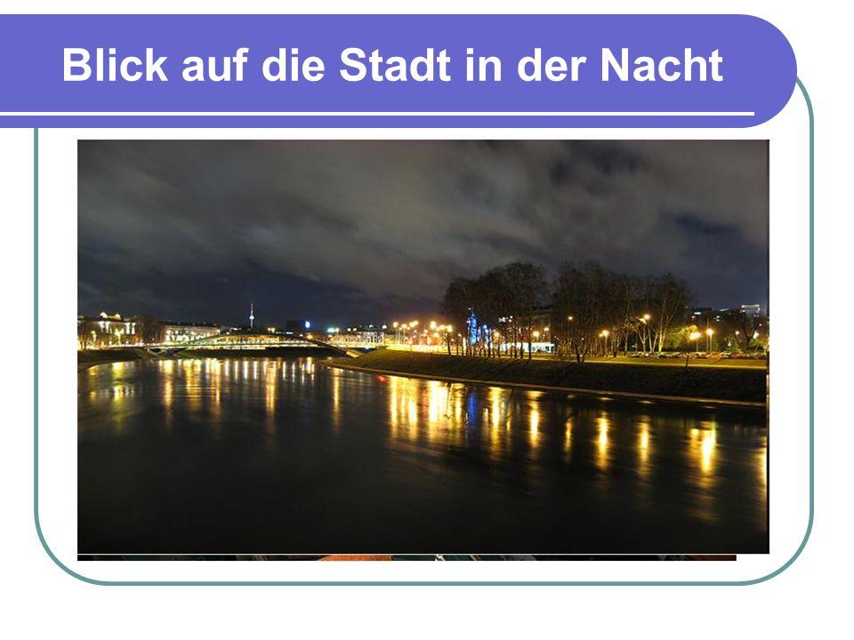 Blick auf die Stadt in der Nacht