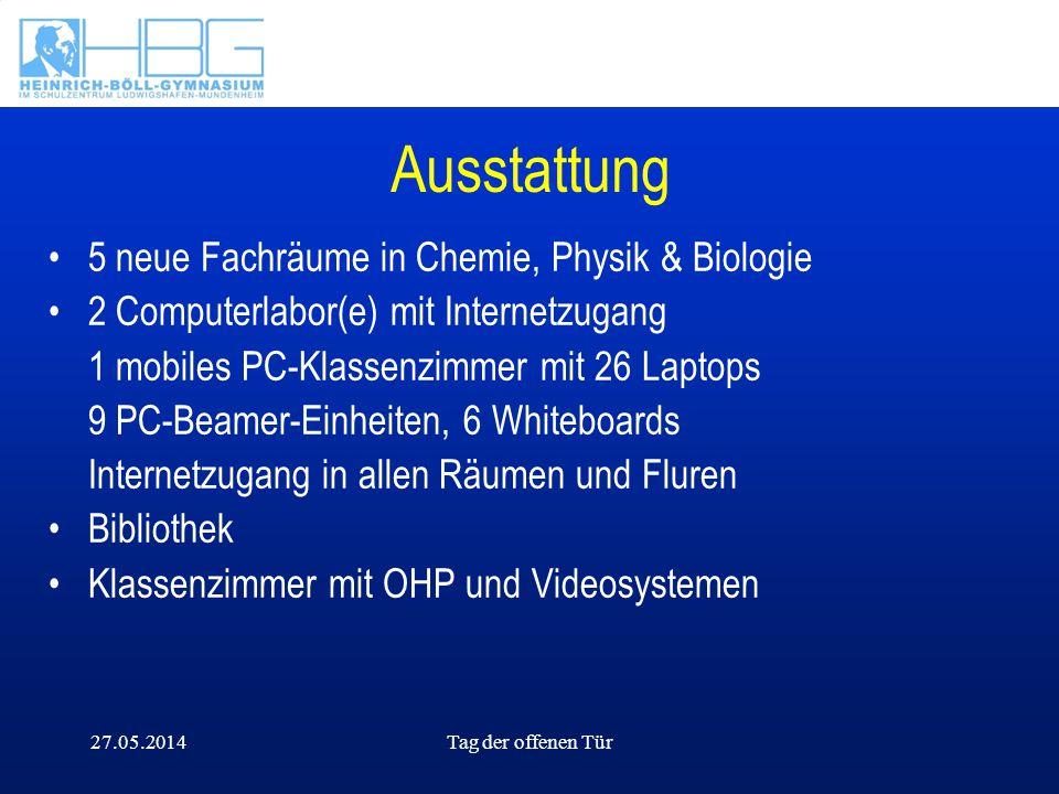 Ausstattung 5 neue Fachräume in Chemie, Physik & Biologie