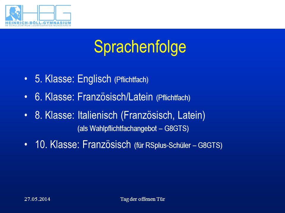 Sprachenfolge 5. Klasse: Englisch (Pflichtfach)