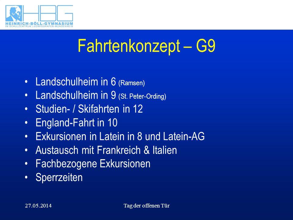 Fahrtenkonzept – G9 Landschulheim in 6 (Ramsen)