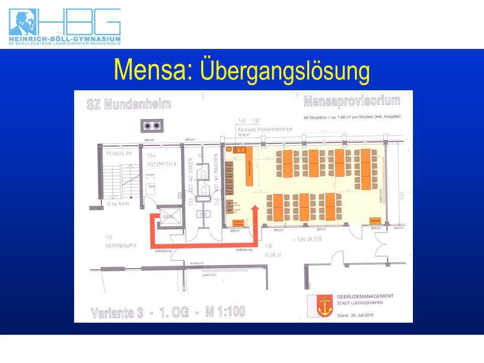 Mensa: Übergangslösung