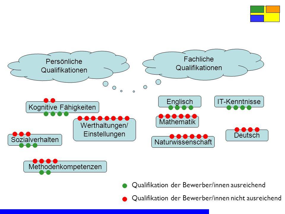 Fachliche Qualifikationen Persönliche Qualifikationen