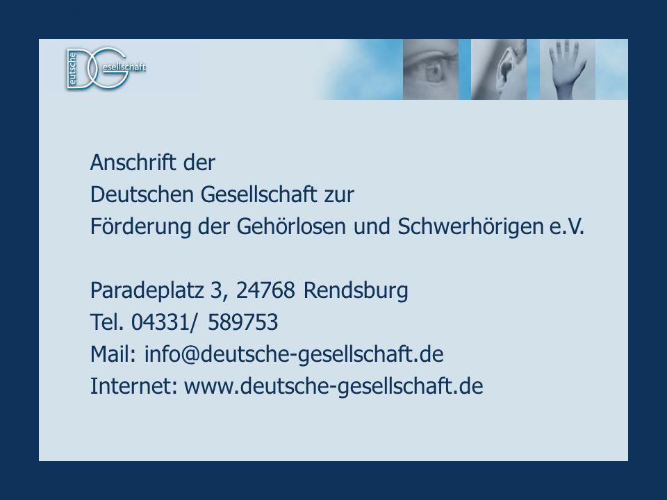 Deutschen Gesellschaft zur