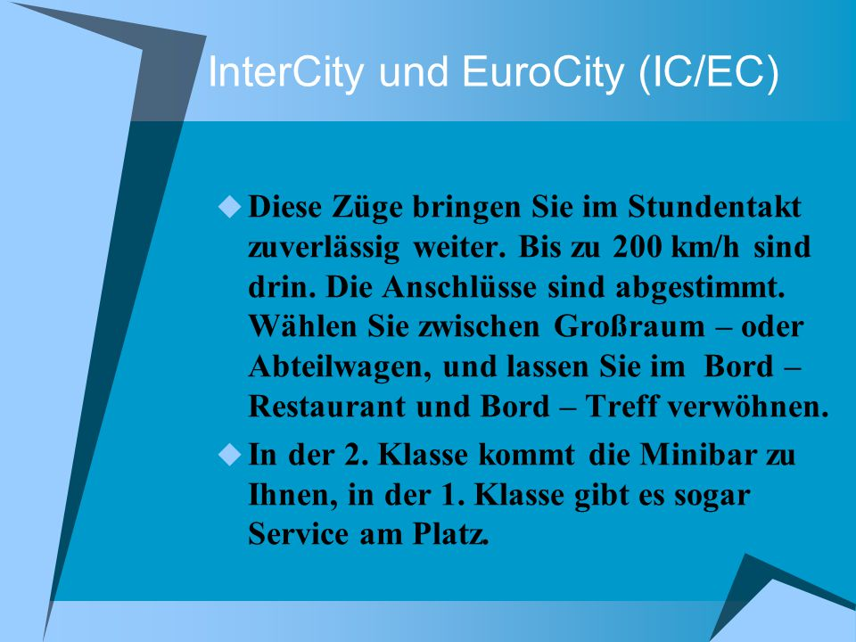 InterCity und EuroCity (IC/EC)