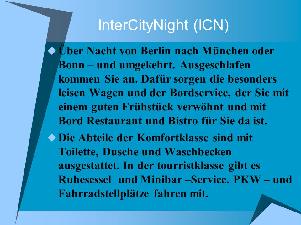 InterCityNight (ICN)