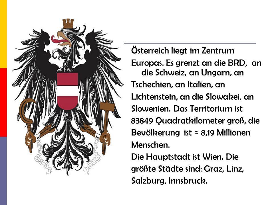 Österreich liegt im Zentrum