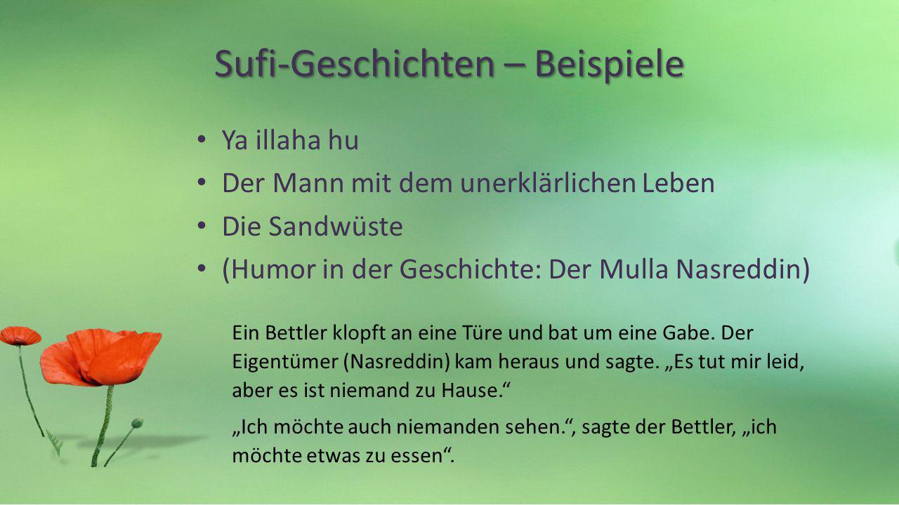 Sufi-Geschichten – Beispiele