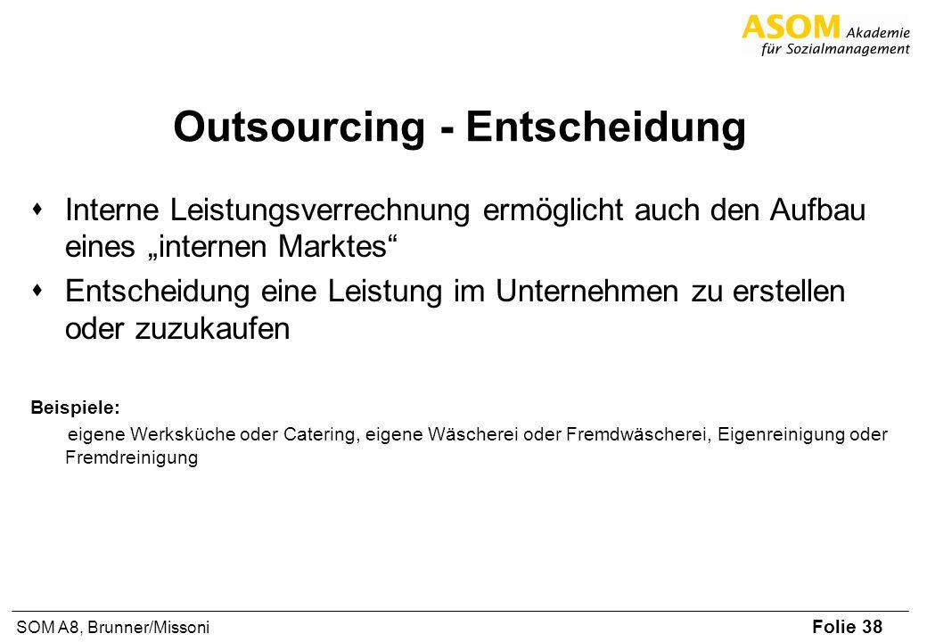 Outsourcing - Entscheidung