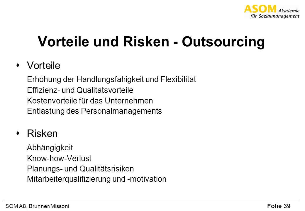 Vorteile und Risken - Outsourcing