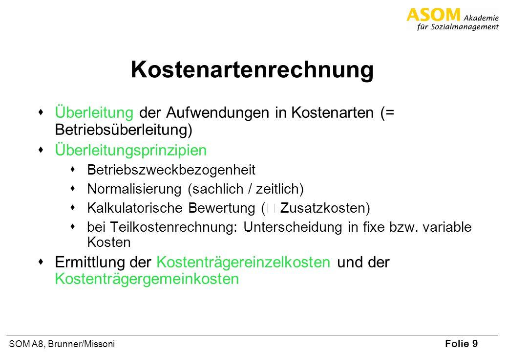 Kostenartenrechnung Überleitung der Aufwendungen in Kostenarten (= Betriebsüberleitung) Überleitungsprinzipien.