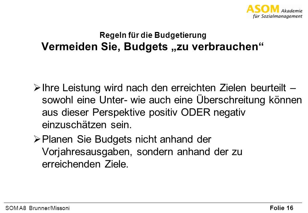"""Regeln für die Budgetierung Vermeiden Sie, Budgets """"zu verbrauchen"""