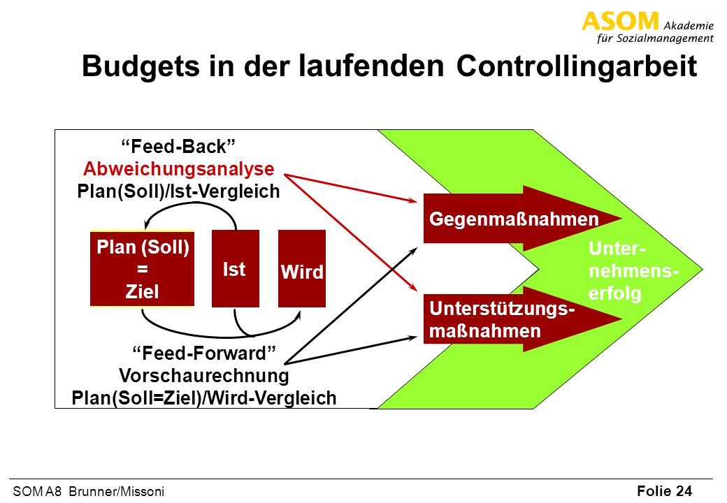 Budgets in der laufenden Controllingarbeit