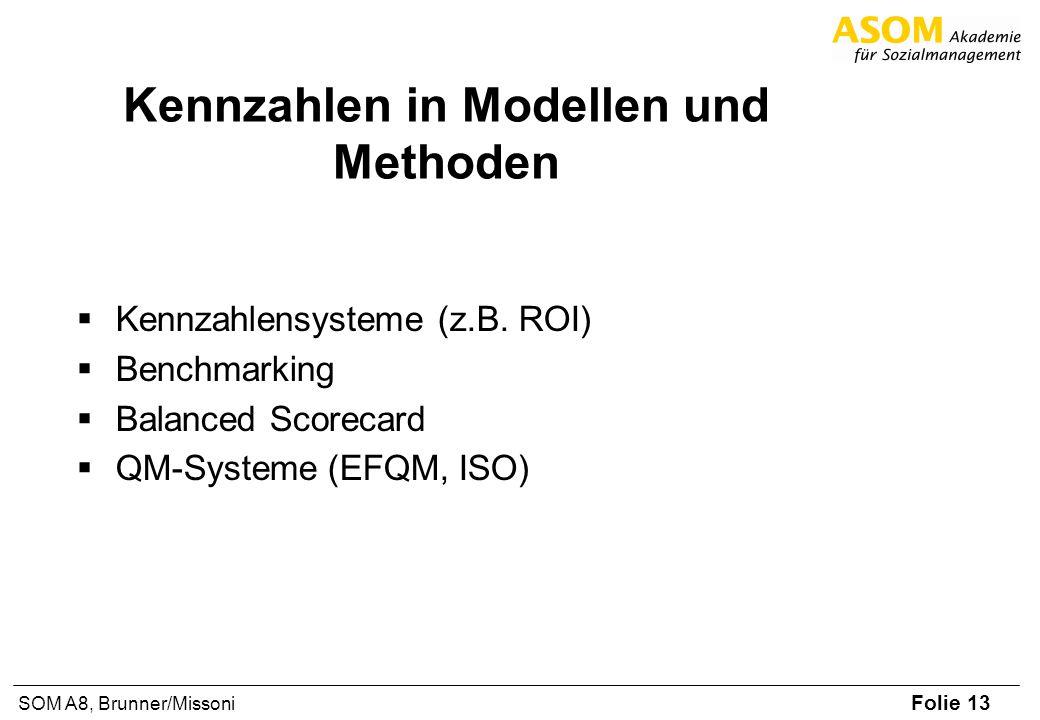Kennzahlen in Modellen und Methoden