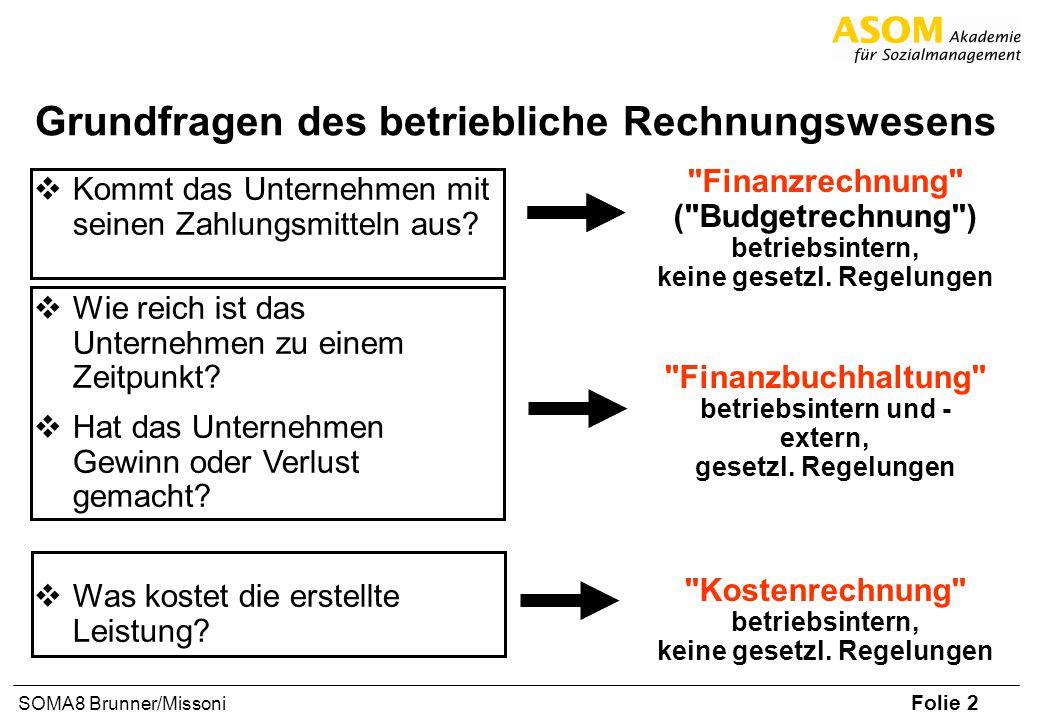 Grundfragen des betriebliche Rechnungswesens