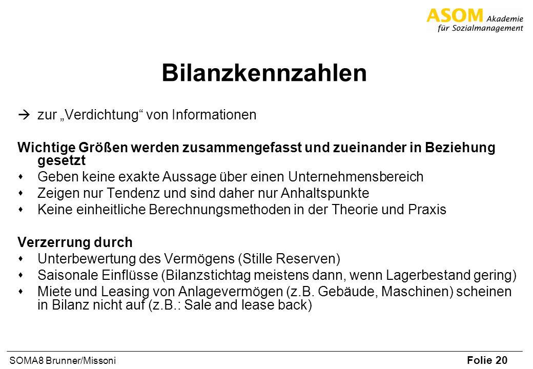 """Bilanzkennzahlen zur """"Verdichtung von Informationen"""