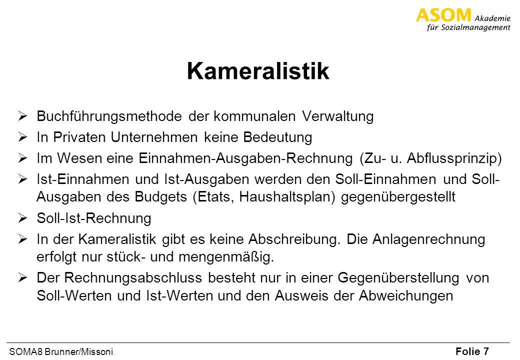Kameralistik Buchführungsmethode der kommunalen Verwaltung