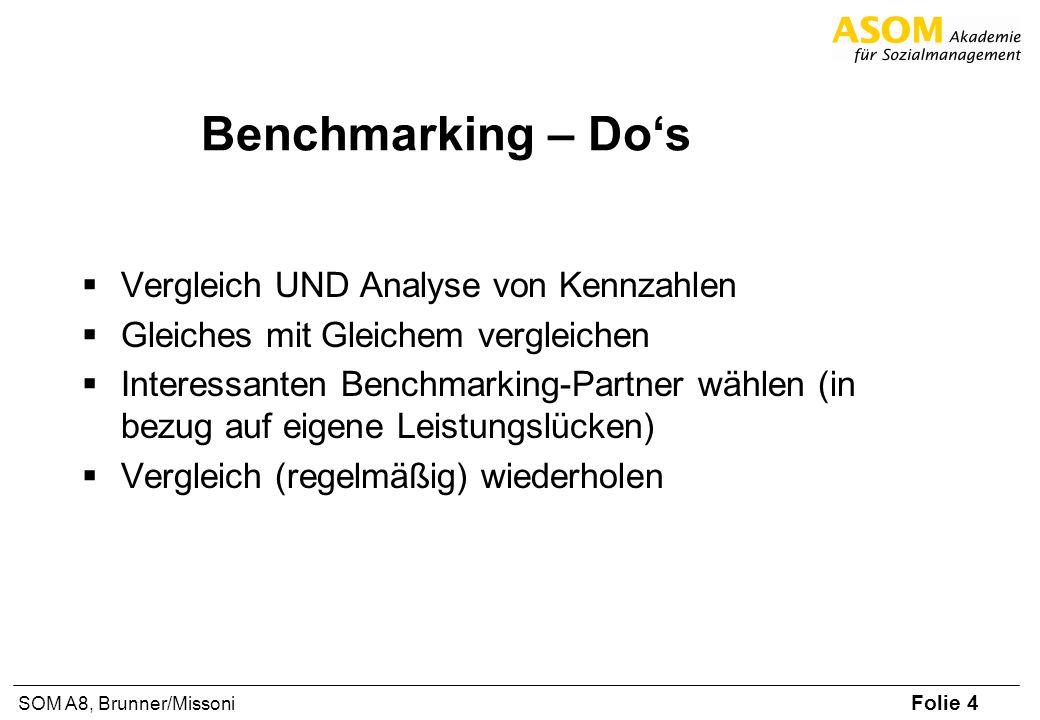Benchmarking – Do's Vergleich UND Analyse von Kennzahlen