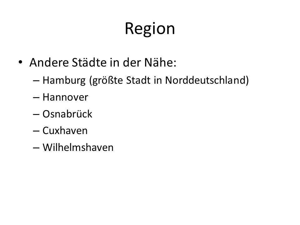 Region Andere Städte in der Nähe:
