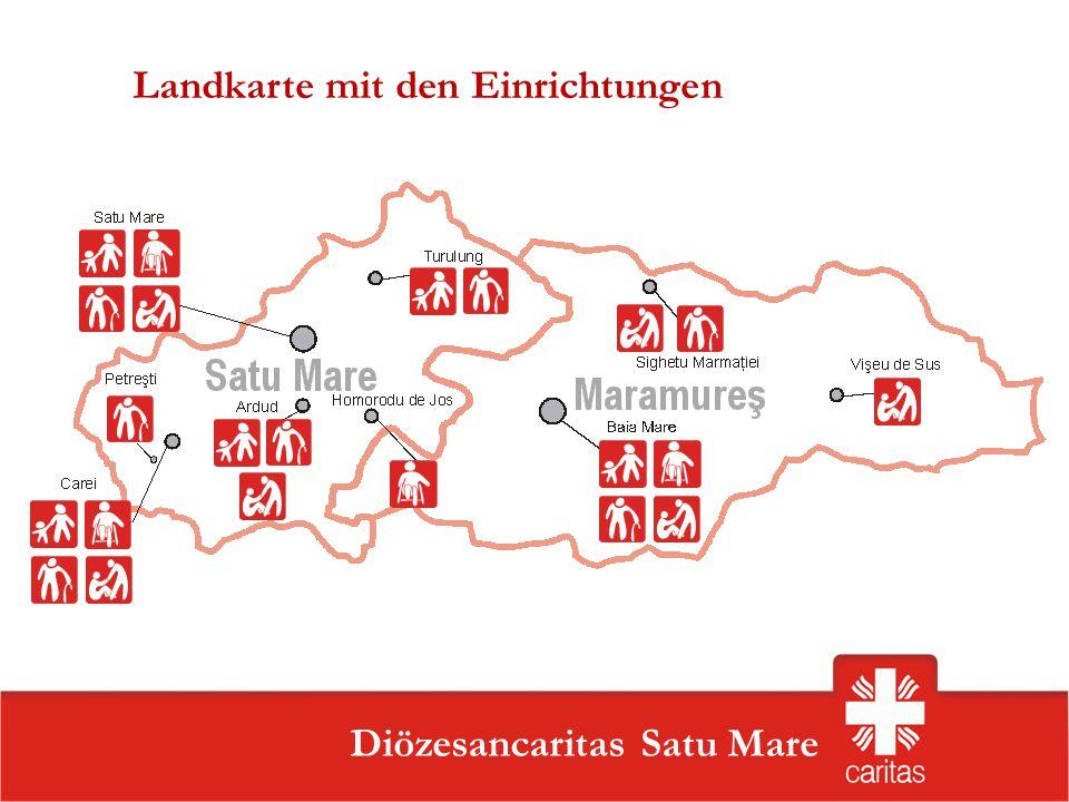 Landkarte mit den Einrichtungen