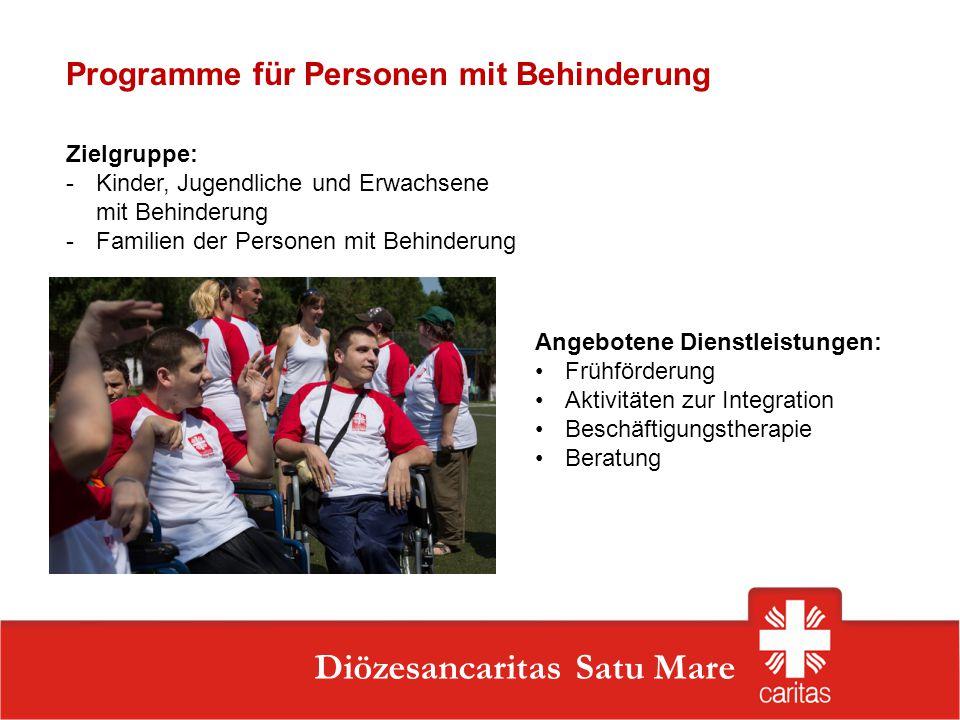 Programme für Personen mit Behinderung