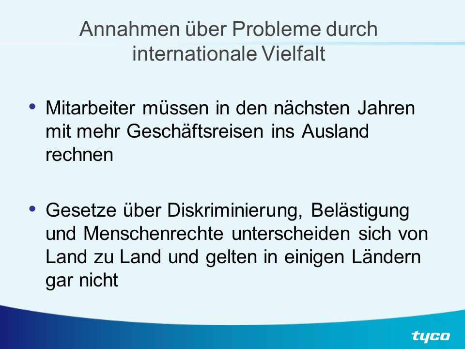 Herausforderungen durch zunehmende internationale Interaktion