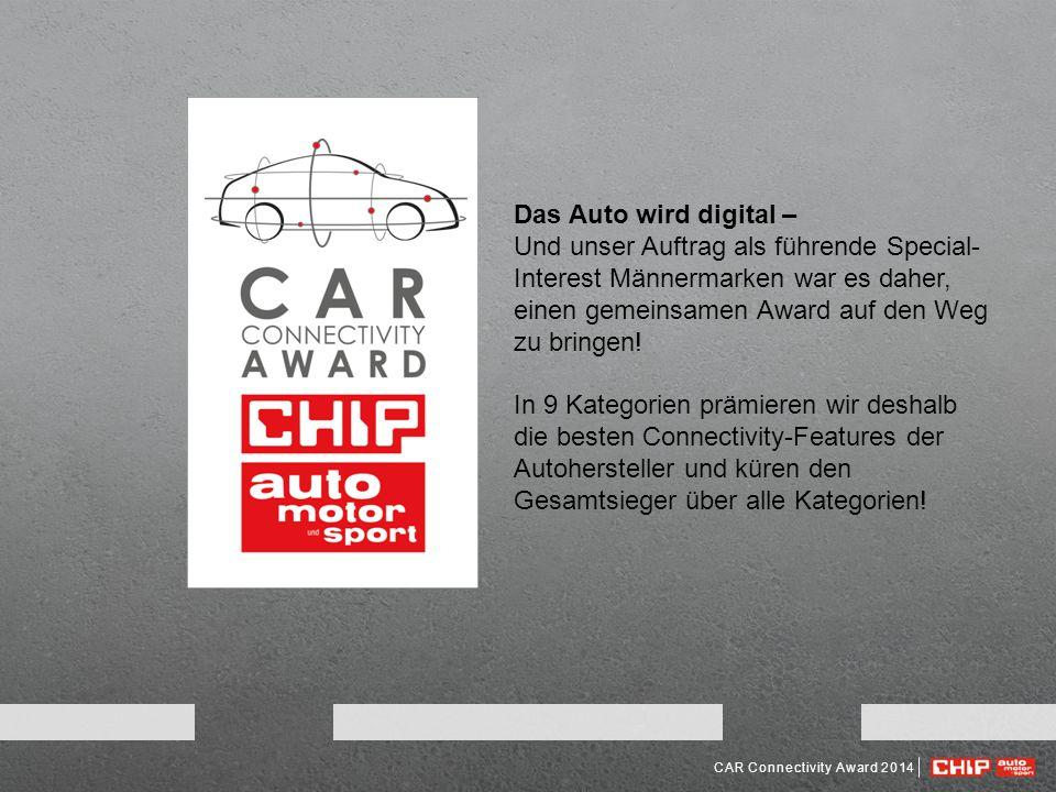 Das Auto wird digital – Und unser Auftrag als führende Special-Interest Männermarken war es daher, einen gemeinsamen Award auf den Weg zu bringen!