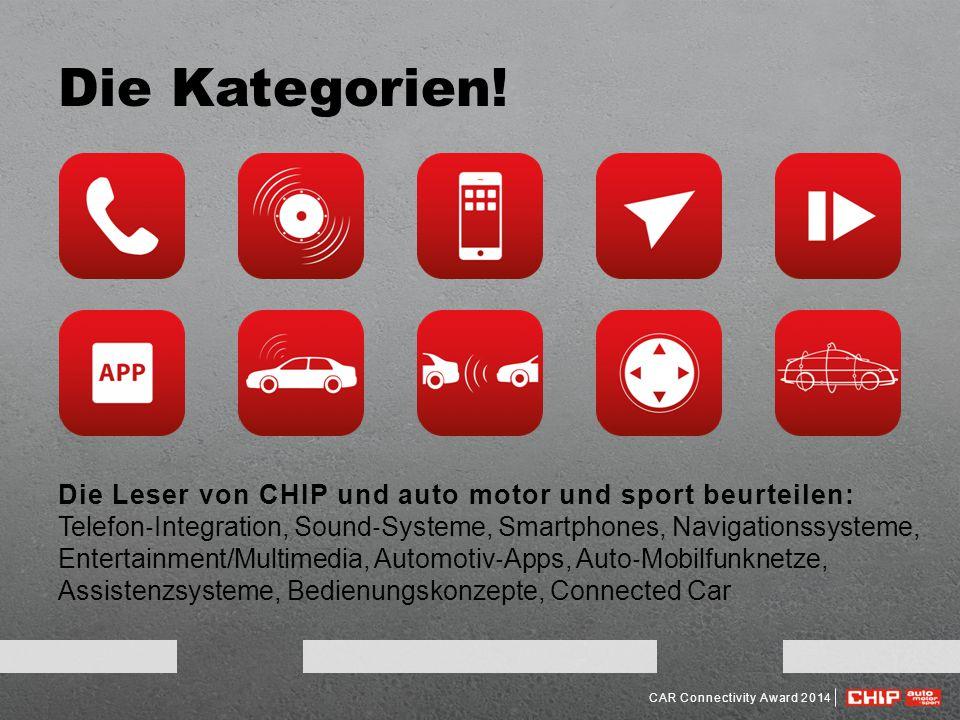 Die Kategorien! Die Leser von CHIP und auto motor und sport beurteilen: