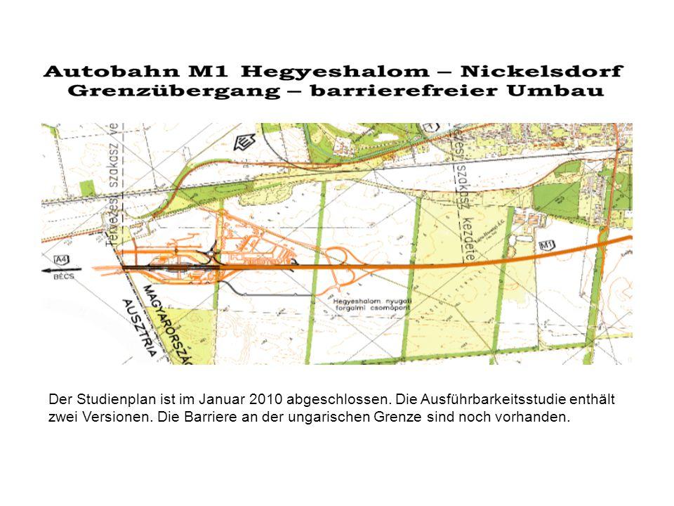 Der Studienplan ist im Januar 2010 abgeschlossen