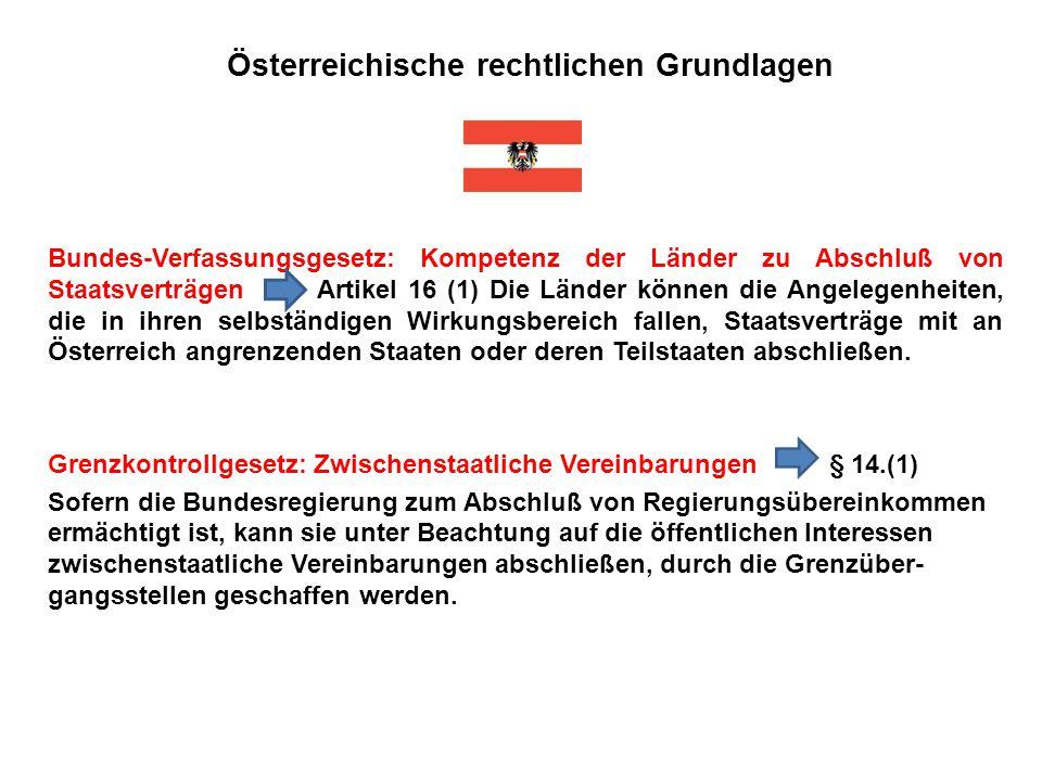 Österreichische rechtlichen Grundlagen