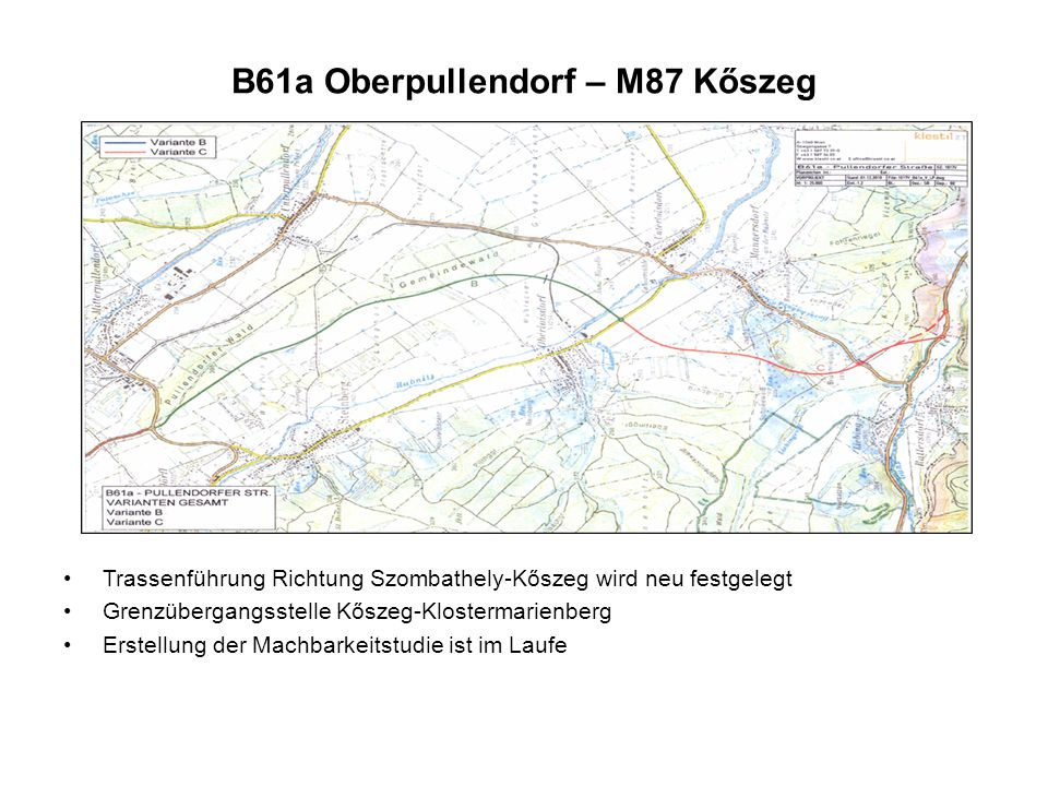 B61a Oberpullendorf – M87 Kőszeg
