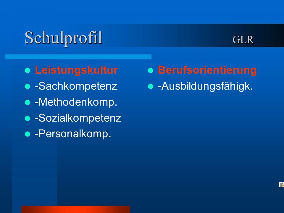 Schulprofil GLR Leistungskultur -Sachkompetenz -Methodenkomp.
