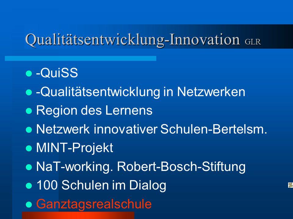 Qualitätsentwicklung-Innovation GLR