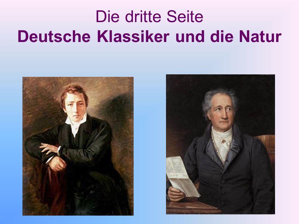 Die dritte Seite Deutsche Klassiker und die Natur