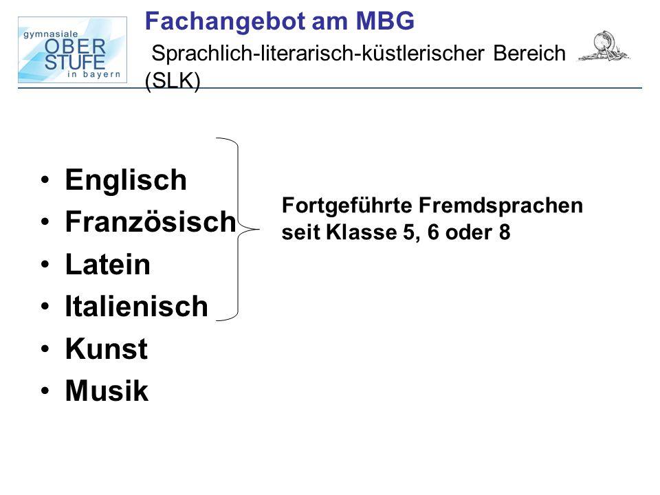Fachangebot am MBG Sprachlich-literarisch-küstlerischer Bereich (SLK)