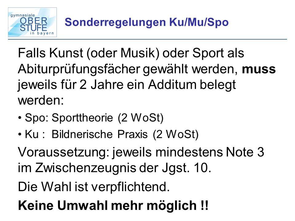 Sonderregelungen Ku/Mu/Spo