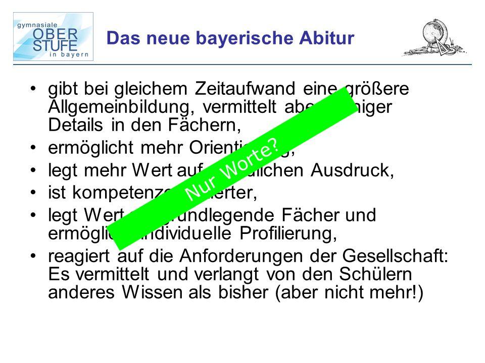 Das neue bayerische Abitur