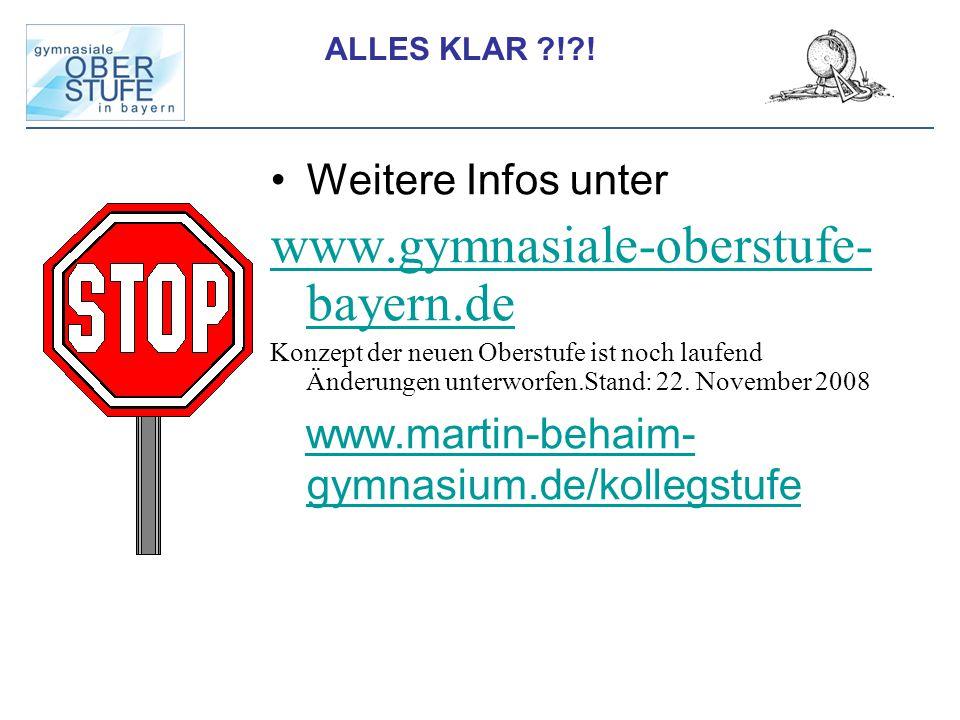 www.gymnasiale-oberstufe-bayern.de Weitere Infos unter