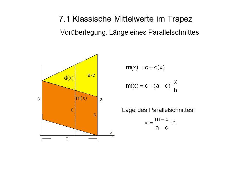 7.1 Klassische Mittelwerte im Trapez