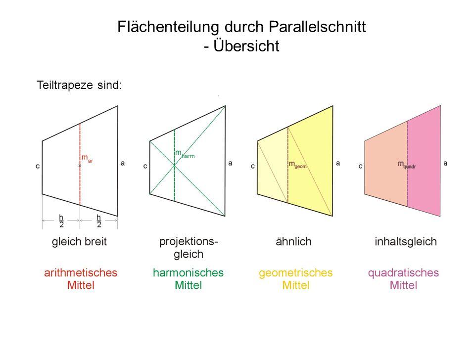 Flächenteilung durch Parallelschnitt