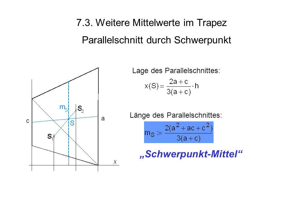 7.3. Weitere Mittelwerte im Trapez