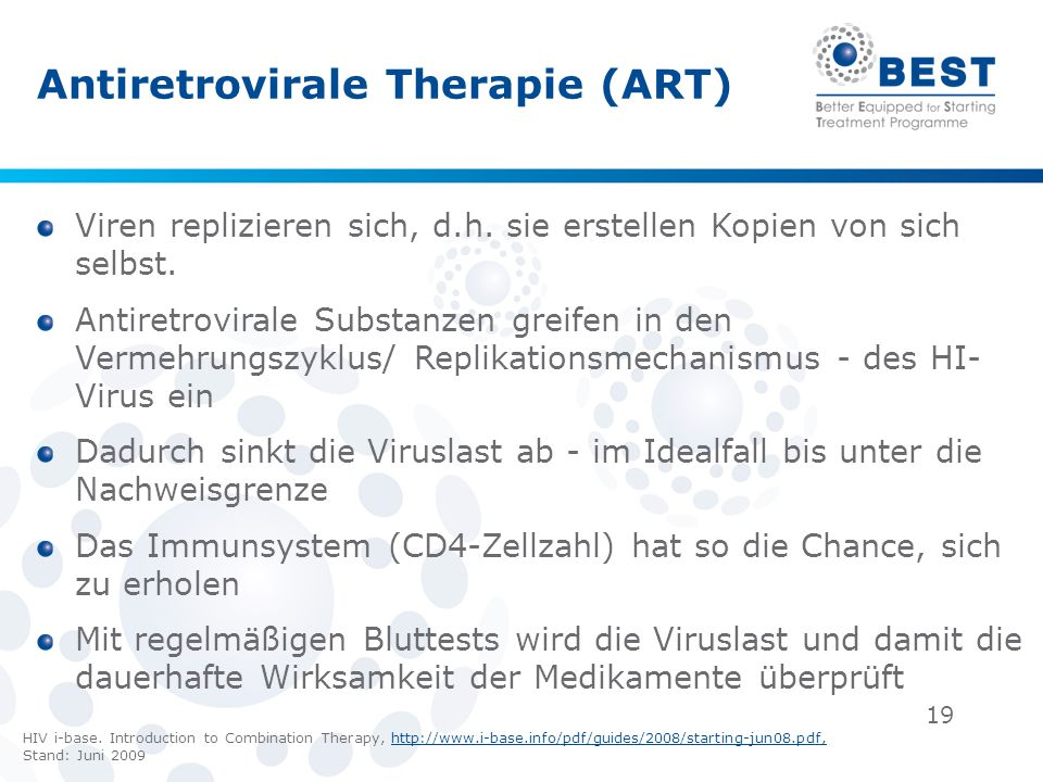 Antiretrovirale Therapie (ART)