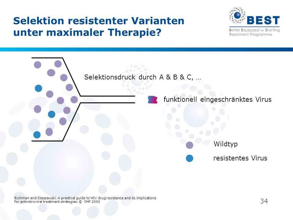 Selektion resistenter Varianten unter maximaler Therapie