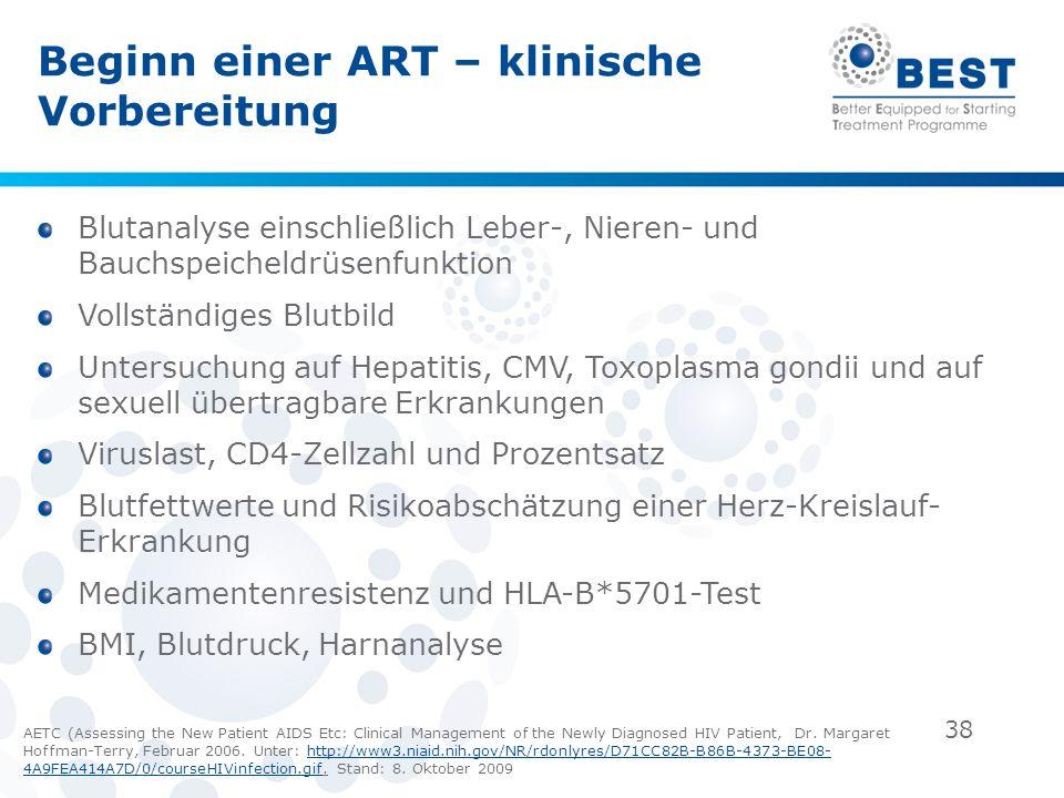 Beginn einer ART – klinische Vorbereitung